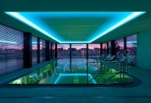 Hotelový nerezový bazén s přelivem 12x6 m, SPA RESORT Lednice