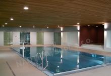 Hotelový nerezový bazén s přelivem 11,5x5,5 m s chrličem, a whirlpoolem HOTEL S-PORT VÉSKA, Véska