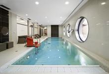 Rehabilitační bazén s přelivem 10x3 m, Surgal Clinic, Brno