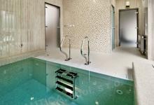 Relaxační bazén s přelivem 3x2 m, Surgal Clinic, Brno