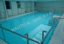 Rehabilitační bazén s přelivem 11,5x5,5 m, Nemocnice Blansko
