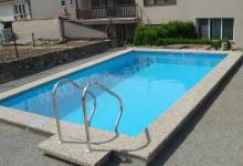Skimmerový venkovní bazén 3x3 m