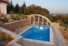 Skimmerový venkovní bazén 6x3 m se zakrytím vodní hladiny