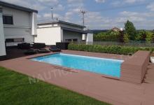 Skimmerový venkovní bazén 7x3,5 m