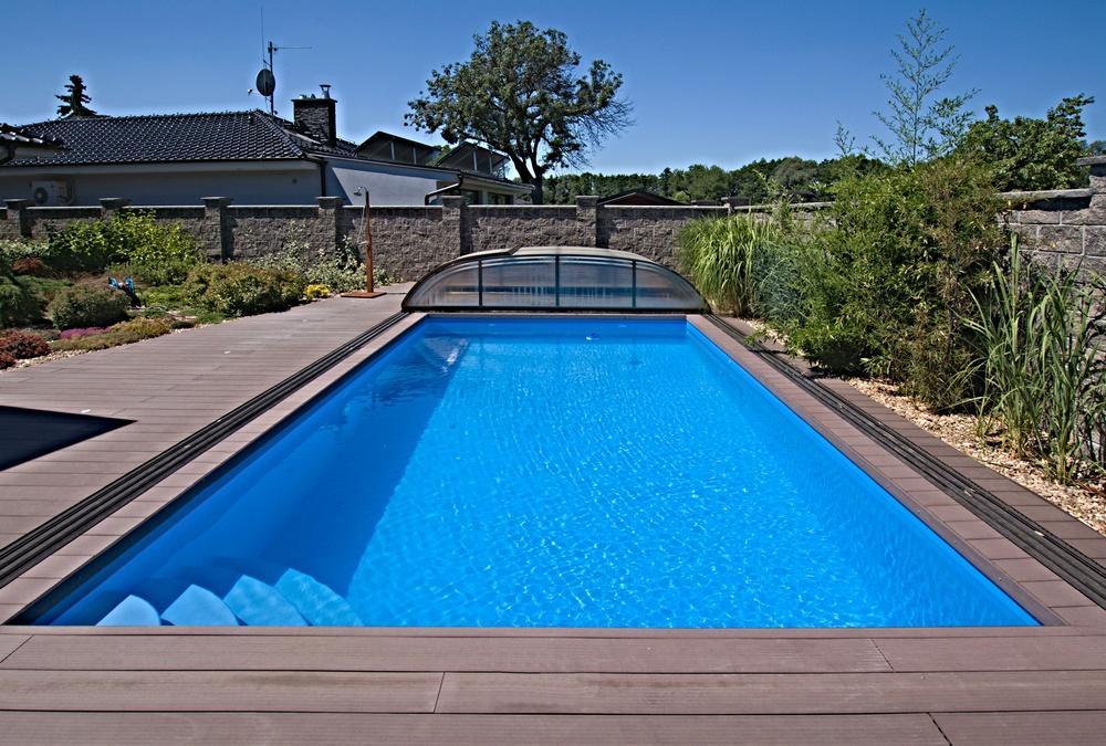 Skimmerový venkovní bazén 8x4 m